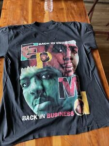 Vintage 90s EPMD Back In Business Rap 1997 T-Shirt Bay Club Tag 🛑Dry Rot🛑