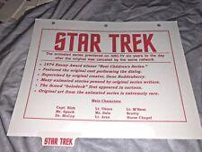 Rare Star Trek Promo Binder Page