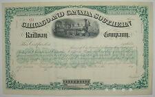 Chicago & Canada Southern Railway Company Stock Certificate Railroad