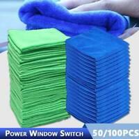 50/100 x Mikrofasertücher Auto Reinigung Poliertuch Microfasertuch Waschlappen