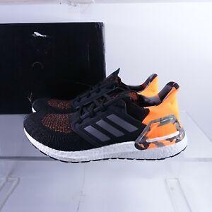 Size 12.5 Men's adidas Ultraboost 20 Running Shoes FV8322 Black/Grey/Orange