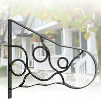 """Handrails for Outdoor Steps Wrought Iron Handrail 18"""" Length Porch Deck Railing"""