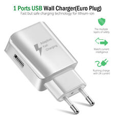 White USB 1-Port Fast Charger EU Plug Wall Charger Universal For iPhone Android