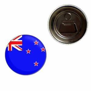 New Zealand Flag - 55mm Fridge Magnet Bottle Opener BadgeBeast