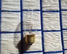 BOX 4 NEW CLEAR FLAME chandelier light BULB Teardrop 60 watt torpedo medium 60w