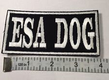""""""" ESA DOG""""  Service animal Patch  4"""" X 2""""  with a hook and loop back."""