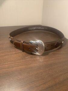 Nocona Men's Distressed Brown Leather Western  Belt Size 38
