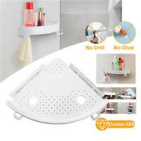 Bathroom Snap Up Corner Storage Holder Shelf Rack Grip Home Wall Mounted Shelves