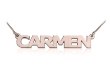 CAPITAL LETTERS NAME NECKLACE: STERLING SILVER, 24K GOLD, ROSE GOLD