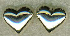 """925 argento Sterling sbuffo CUORE ORECCHINI A PERNO 15mm x 13mm (3/5 """"x 1/2"""")"""