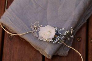 handmade Baby Flower Headband Tieback  Newborn photo prop Photography grey white
