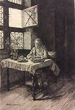 Ernest Meissonier Le déjeuner gravé par Charles Louis KRATKÉ  (1848-1921) 1893