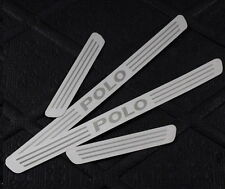 VOLKSWAGEN POLO 2011-15 SET OF 4 DOOR SILL GUARD SCUFF STAINLESS STEEL PLATE,NEW
