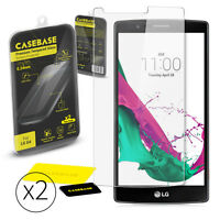 Casebase Premium Tempered Glass Screen Protector TWIN PACK for LG G4