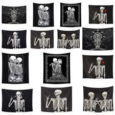 Mandala Skull Tapestry Wall Hanging Decor Blanket Bedroom Bedspread Throw Mat US