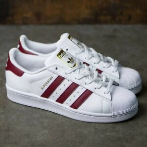 adidas SUPERSTAR white/collegiate burgundy/gold metallic 8 Men 9.5WMN 41.3EU