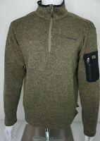 Avalanche 1/4 Zip Fleece Green Men's Large Sleeve Pocket D55