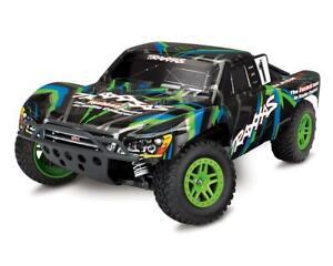 Traxxas Slash 4x4 Remote Control RC Truck, 4WD, 1/10 Scale Green/blue