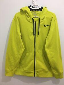 Nike KO Full-Zip Jacket Therma Fit Yellow Size L 465786 701