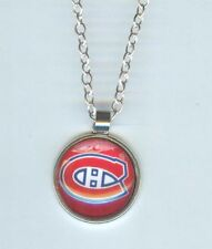 Red MONTREAL CANADIENS, NHL, Hockey Charm Pendant with .925 Necklace - R191