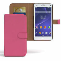 Tasche für Sony Xperia Z3 Compact Flip Case Schutz Hülle Cover Pink