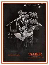 Rick Nielsen  **LARGE POSTER**  Cheap Trick HAMER Guitars & Basses Promo ad