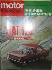* Motor-Rundschau 4 / 1969 -  Simca 1501 - Fiat 124  *