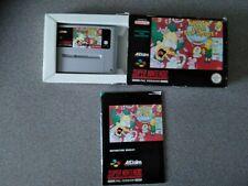 KRUSTY'S SUPER FUN HOUSE Super Nintendo SNES Game Boxed VGC Collectable