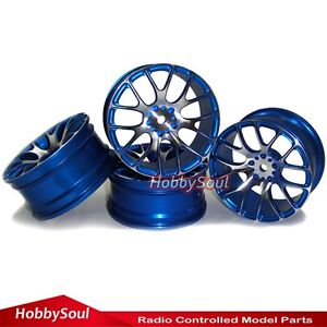 4pcs RC 1/10 Alloy Aluminium Rims Wheels For Drift On-road Touring Car upgrade