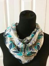Christian Paris Vintage Silk Neck Scarf Multi-Color Semi-Sheer Approx. 25''X25'&# 039;