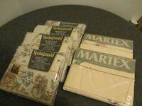 NOS LOT (6) FLAT SHEETS SETS (4) SPRINGMAID DOUBLE METROPOLITAN+(2) MARTEX TWIN