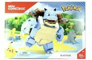 Mega Bloks Pokemon Mega Construx Blastoise Set FPM99 New!