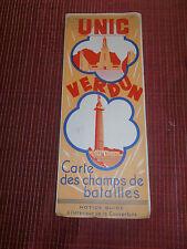 CARTE DES CHAMPS DE BATAILLES VERDUN GUERRE 14 / 18 WW1 (ref 47)