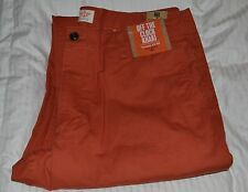 DOCKERS OFF THE CLOCK STRAIGHT FIT D2  W34 L30 100% COTTON COLOR BURNT ORANGE