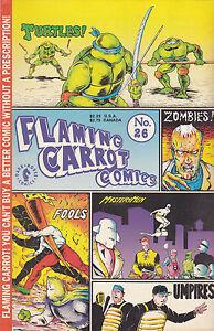 FLAMING CARROT COMICS NUMBER 26 JUNE 1991 TEENAGE MUTANT NINJA TURTLES