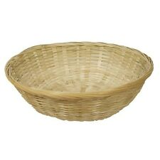 Pack of 4 round wicker hamper 12 inch basket for fruit bread or gift hampers