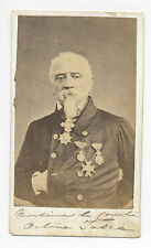 1864 CDV PHOTO COMTE OCTAVA TASCA w/ MANY MEDALS, LONG INSCRIPTION, HAVANA