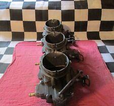 3 USED STROMBERG NOSTALGIA RACING CARBURETOR/CARB TRI-POWER/3 DUCES/STREET RACER