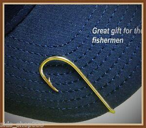 ORIGINAL EAGLE CLAW 155a CAP Hook Hat Pin, Tie Clip Fish Hook Clasps money clip