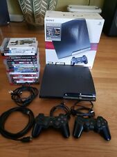 Sony Playstation 3 PS3 Slim Console 120GB, 2 Controllers,16 Games (bundle)