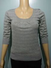 NEW LOOK ladies grey lurex jumper size 10 xmas party