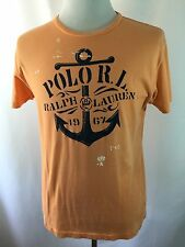 Polo Ralph Lauren Men's S Peach 100% Cotton Sailing print T-shirt Tee