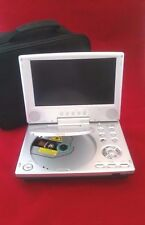 "Polaroid PDV-0813A Portable DVD Player 8.5"" and Case No Plug For Parts or Repair"
