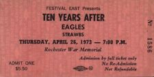 The Eagles / Ten Years After 1973 Unused Rochester War Memorial Arena Ticket
