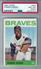 1964 Topps #454 Tommy Aaron Braves NM MT PSA 8 OC