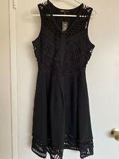 Maje Robe Boule Empiece Black Mini Dress Size 3