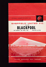 Sheffield United versus Blackpool April 16 1963 Official Programme