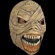 Deluxe Evil Mummy Adult Latex Mask Fangs Egypt Halloween Costume Prop Gauze Wrap