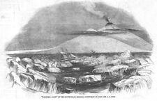 ANTARCTICA View of Victoria Land - Antique Print 1844
