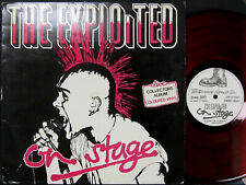 "The Exploited ""On Stage"" 1981 The Exploited Record Company Red Wax VG++/VG+"
